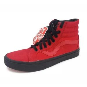New Vans SK8-Hi  Red and Black Sneakers